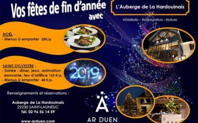 Menus Noël 2018 et Saint Sylvestre