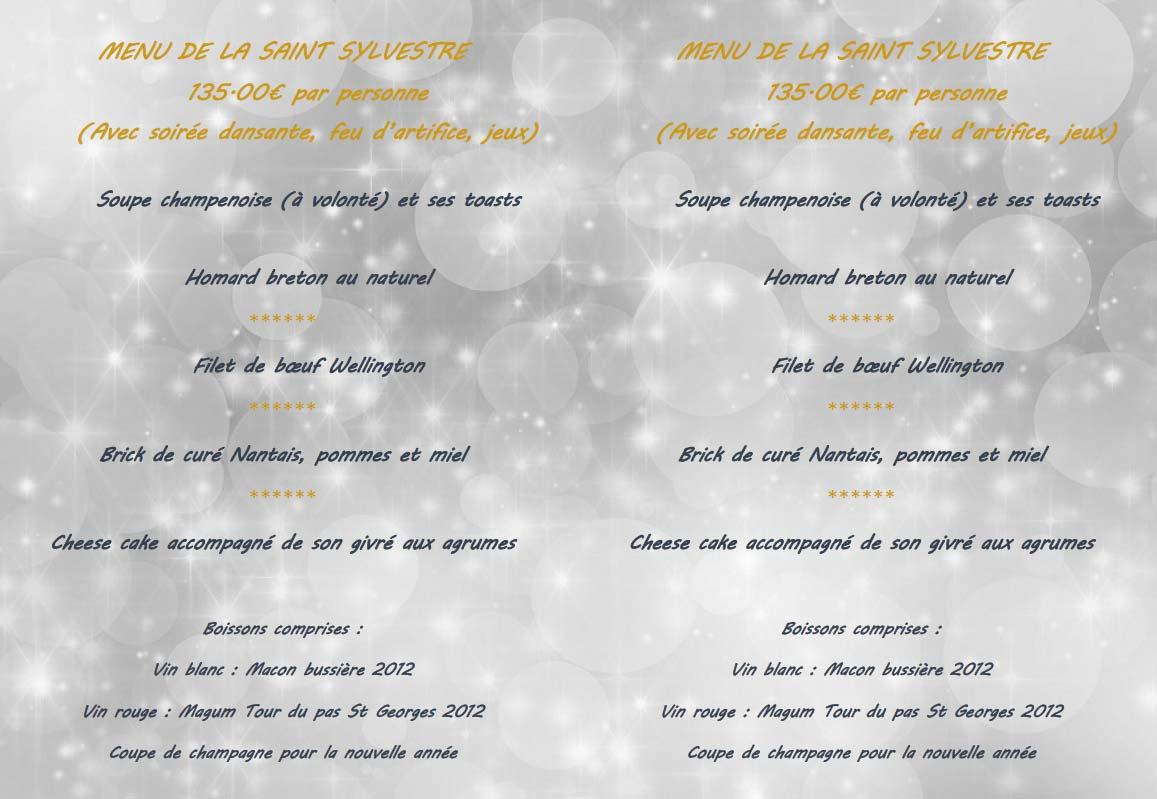 Menu De Noel A Emporter.Menus Noel 2018 Et Saint Sylvestre Arduen
